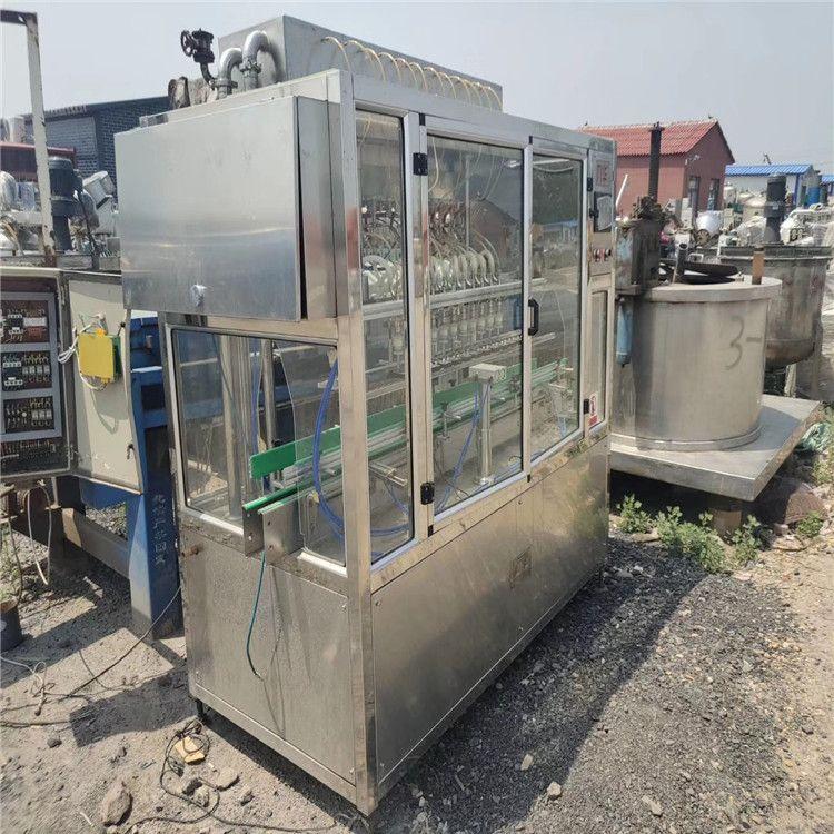 转让九成新6头直列式定量灌装机 自动液体灌装机 直线式罐装机