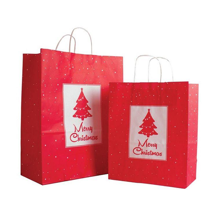 FSC认证印刷厂家直销白色牛皮纸彩色印刷纸袋购物手挽袋免费设计牛皮纸手提袋