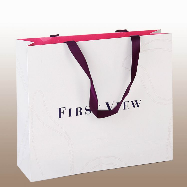 FSC森林认证印刷厂家直销时尚购物纸袋免费设计铜版纸各式各样手提袋彩色手提袋