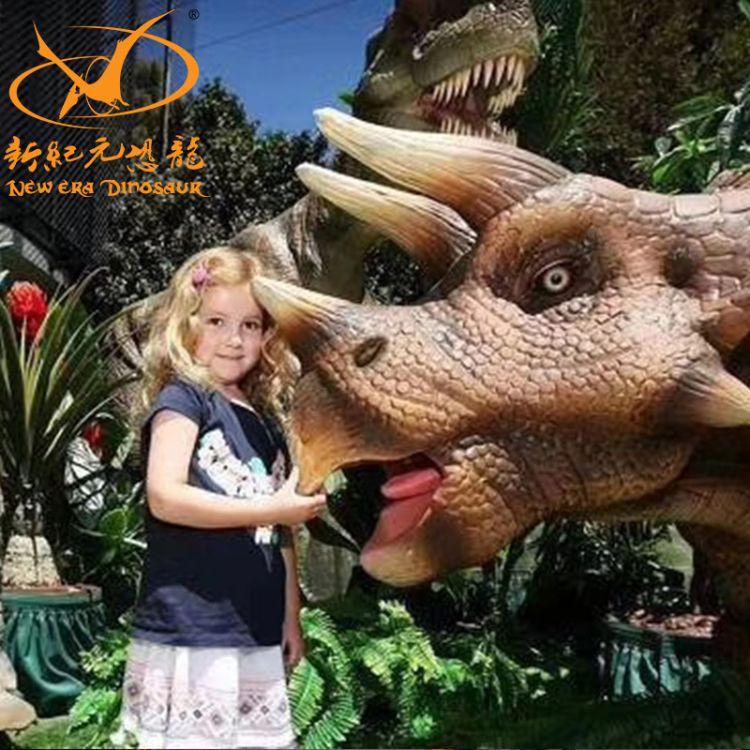 自贡大型户外仿真恐龙霸王龙模型 工厂直销动作逼真机械仿真恐龙