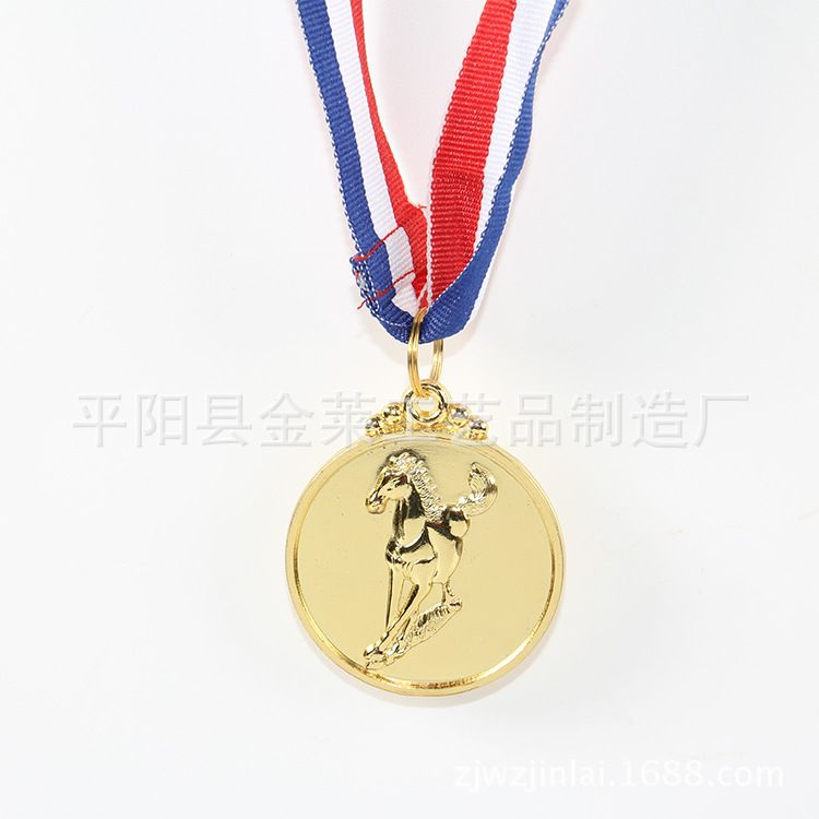 马术比赛金属奖牌厂家定做 个性奖牌 通用奖牌运动会奖牌批发