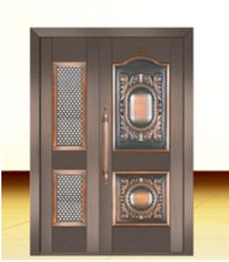 豪创门窗 供应厂家直销铜质门防盗门进户铜门安全门子母门
