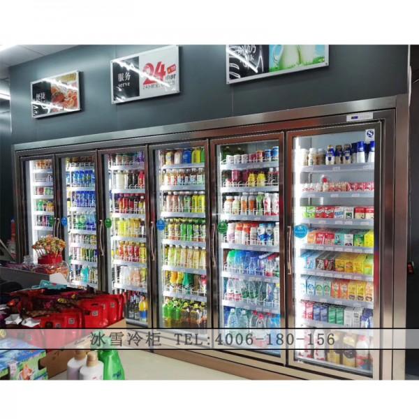 潮州 六门平头饮料柜 超市六门平头展示柜 六门平头冷藏柜