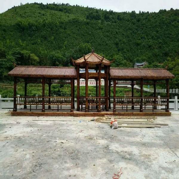 定制 园林景观文化走廊 园林景观长廊